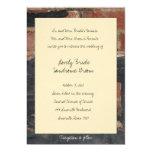 Vieja invitación del boda del ladrillo rojo invitación 12,7 x 17,8 cm