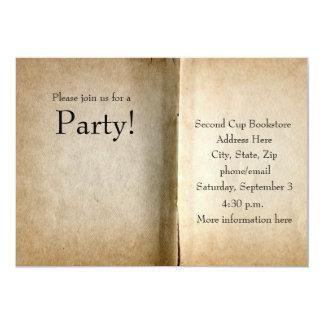 Vieja invitación del libro de las páginas