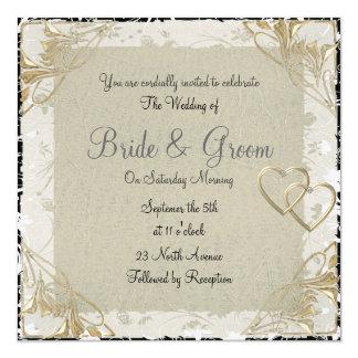 Vieja invitación popular y elegante del boda de