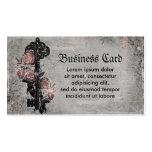 Vieja llave y rosas tarjetas de visita