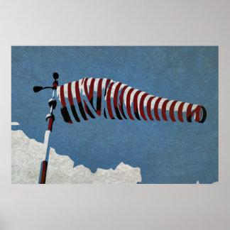 Vieja manga de viento póster
