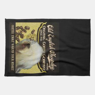 Vieja marca inglesa del perro pastor - café orgáni toallas de cocina