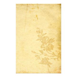 Vieja mirada antigua de papel del vintage con los  papelería personalizada