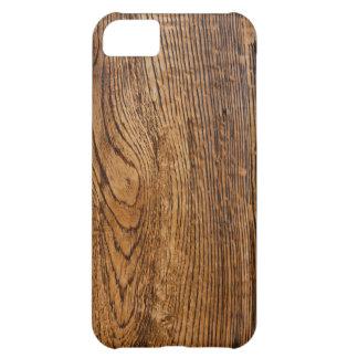 Vieja mirada de madera del grano funda para iPhone 5C