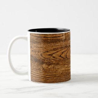 Vieja mirada de madera del grano taza dos tonos