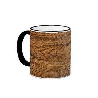 Vieja mirada de madera del grano taza a dos colores