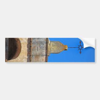 Vieja misión del adobe etiqueta de parachoque