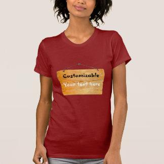 Vieja muestra colgante de madera - personalizable camisetas