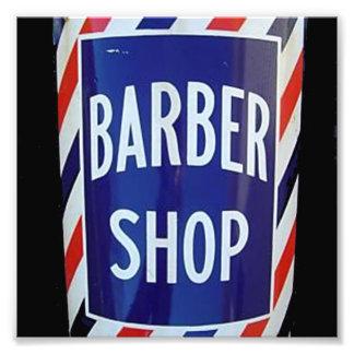 vieja muestra de la peluquería de caballeros arte fotográfico