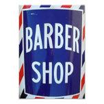 vieja muestra de la peluquería de caballeros comunicado