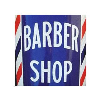 vieja muestra de la peluquería de caballeros lienzo envuelto para galerías