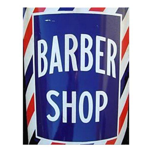 vieja muestra de la peluquería de caballeros membrete personalizado