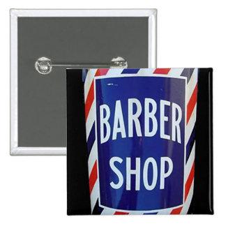vieja muestra de la peluquería de caballeros pin cuadrado