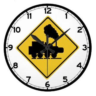 Vieja muestra de la travesía del tren, Tailandia Reloj Redondo Grande