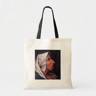 Vieja mujer campesina por Bruegel D. Ä. Pieter Bolsa