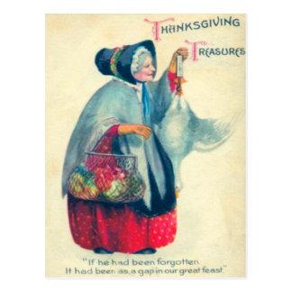Vieja mujer del peregrino postal
