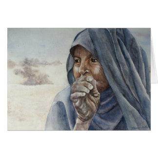 Vieja mujer del Tuareg, Tombuctú Tarjeta De Felicitación