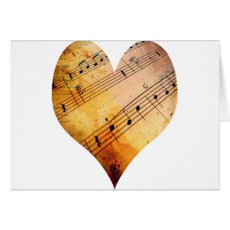 vieja música tarjeta