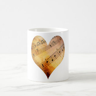 vieja música taza de café