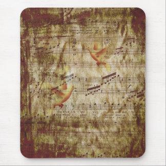 Vieja música y palomas tapete de ratones