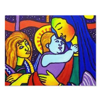 Vieja obra maestra de la familia invitación 10,8 x 13,9 cm