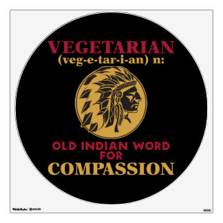 Vieja palabra india vegetariana vinilo adhesivo