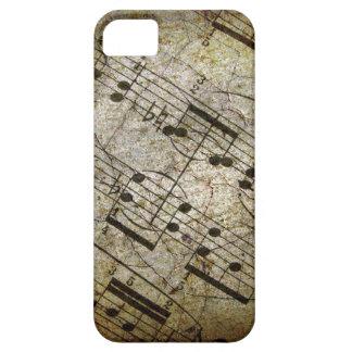 Vieja partitura musical de la hoja, notas de la iPhone 5 funda