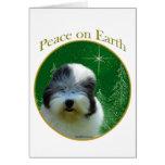 Vieja paz inglesa del perro pastor felicitación