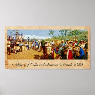 Vieja pintura de Rican de la costa Póster