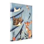 Vieja pintura japonesa de la vida marina circa 180 impresiones en lienzo estiradas
