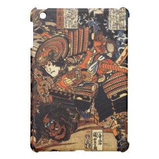 Vieja pintura japonesa del samurai que lucha c.180