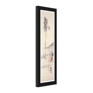 Vieja pintura japonesa extraña impresiones en lienzo estiradas