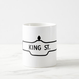 Vieja placa de calle de Toronto - rey Street Taza Clásica