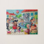 Vieja plaza por completo de dulces puzzles con fotos