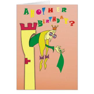 Vieja princesa en tarjetas de cumpleaños chistosas