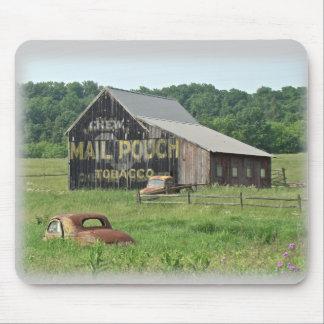 Vieja publicidad del tabaco de la bolsa de correo  mousepads