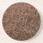 Vieja red oxidada del metal posavasos manualidades