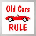 Vieja regla de los coches posters
