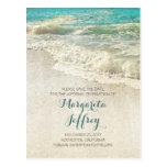 Vieja reserva de la playa del vintage las postales