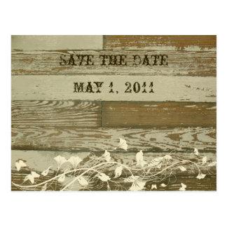 Vieja reserva de madera la fecha postal