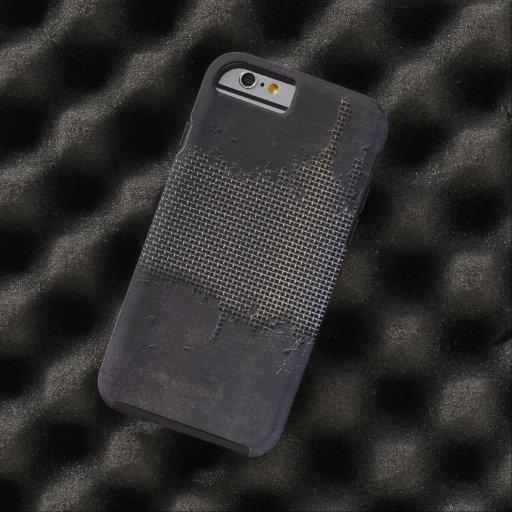vieja superficie de metal con los rasguños grandes funda de iPhone 6 tough