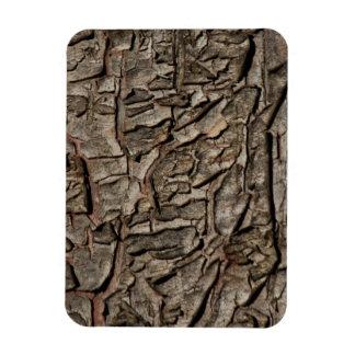 Vieja textura de la corteza de árbol imán flexible