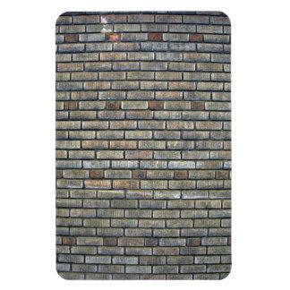 Vieja textura de la pared de ladrillo imán rectangular