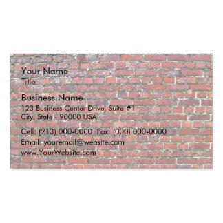 Vieja textura de la pared de ladrillo tarjetas personales