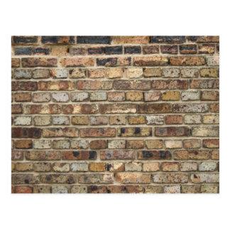 Vieja textura de la pared de ladrillo postales