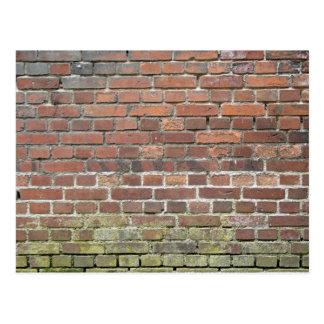 Vieja textura de la pared de ladrillo postal
