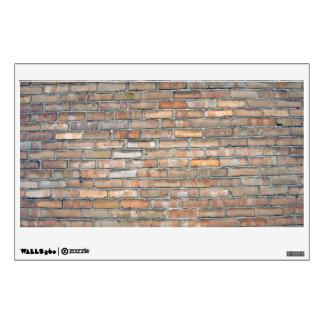 Vieja textura de la pared de ladrillo vinilo adhesivo