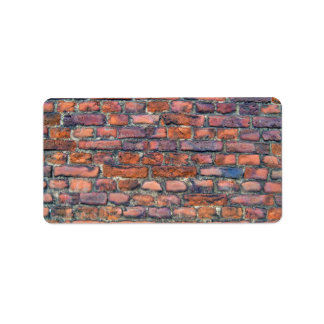 Vieja textura de la pared de ladrillos etiqueta de dirección
