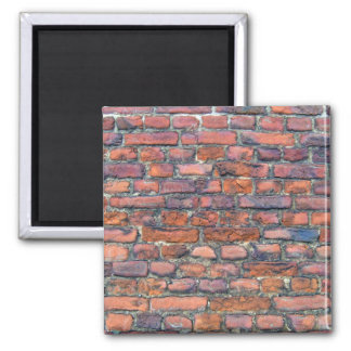 Vieja textura de la pared de ladrillos imanes de nevera