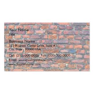 Vieja textura de la pared de ladrillos tarjeta de visita